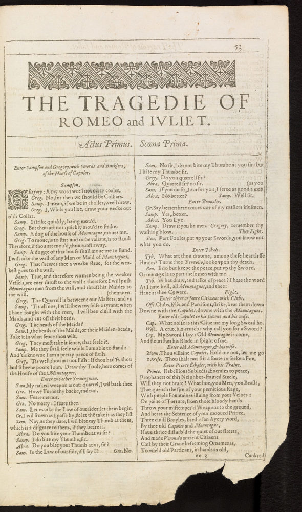Image taken from The Bodleian First Folio: digital facsimile of the First Folio of Shakespeare's plays, Bodleian Arch. G c.7.